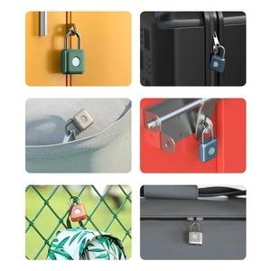 Image 2 - Xiaomi Uodi Smart Fingerprint Padlock Kitty USB Waterproof Electronic Fingerprint Lock Home Anti theft Luggage Case Safety