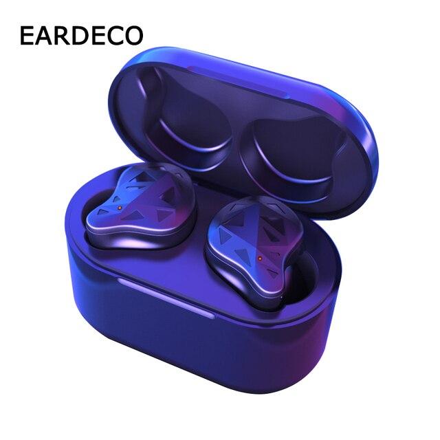 EARDECO prawdziwe bezprzewodowe wkładki douszne TWS sportowe słuchawki douszne słuchawki Bluetooth słuchawki douszne słuchawki bezprzewodowe słuchawki douszne