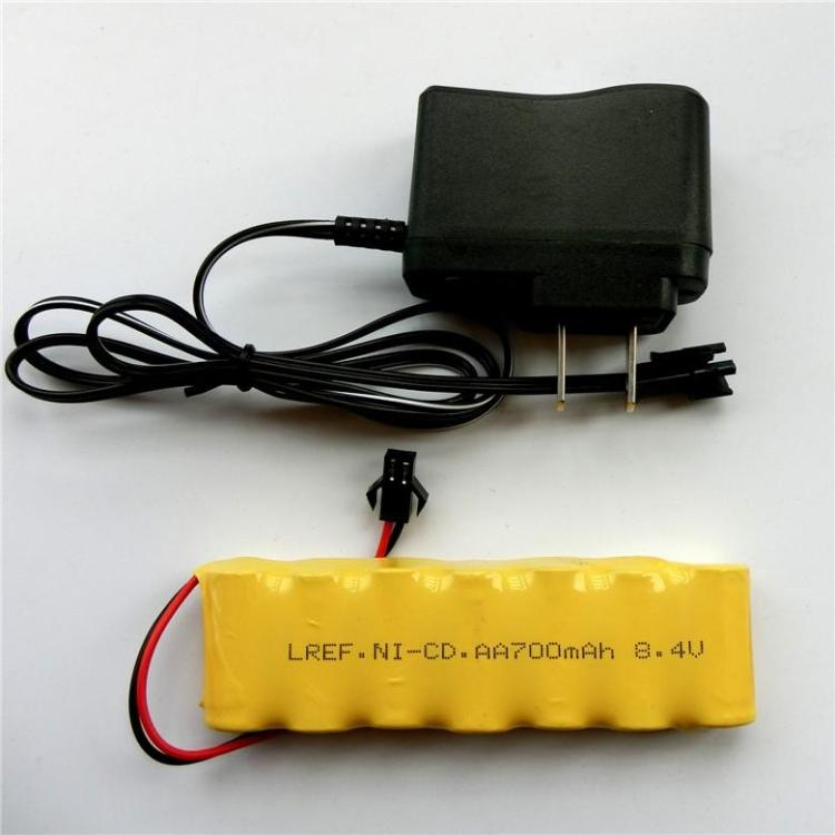 MasterFire 8.4V 700mah 2/3AA NI-CD M Deformação robô de controle remoto veículo Baterias Recarregáveis + Carregador de Bateria, 5 set/lote