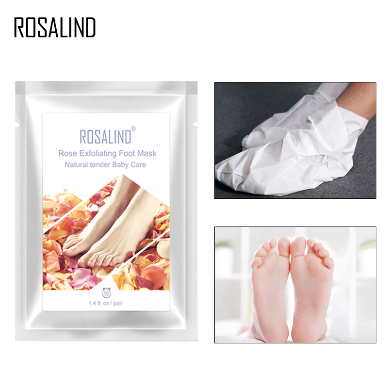 ROSALIND Exfoliating Foot Mask Pedicure Socks Feet Mask Remove Dead Skin 2pc=1pair Detox Foot Patch Cream Mask For Feet