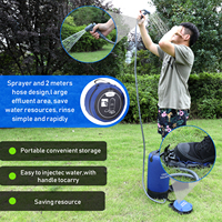 Pvc pressure shower bag with foot pump lightweight inflatable shower pressure shower water bag for outdoors camping bathing