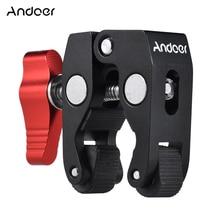 "Andoer Multi function Super Clamp Ball Head Clamp Magic Arm Super Clamp w/1/4"" Thread for GPS Phone LCD/DV Monitor Video Light"
