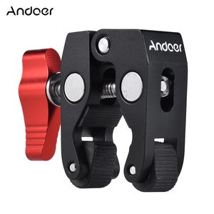 Image 1 - Многофункциональный шариковый зажим Andoer с супер зажимом, Супер зажим с резьбой 1/4 дюйма для телефона GPS, ЖК дисплей/DV монитор, видеосветильник
