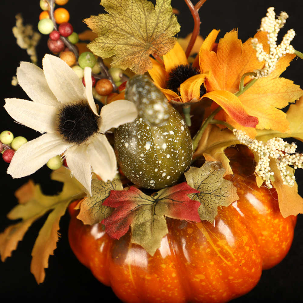 15cm Artificial Pumpkins Maple Leaf Pomegranate Table Home