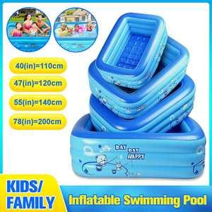 Inflatable Pool Paddling-Pool Bathing-Tub Baby Kids Home-Use Children Square 110-200cm