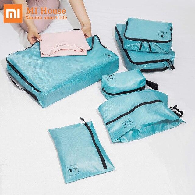 Bộ 1 Xiaomi Mijia 90fun Túi Bảo Quản Chống Thấm Nước Chống Thấm Gấp Gọn Người Tổ Chức Quần Áo Giày Quần Lót Dễ Dàng Mang Theo Du Lịch