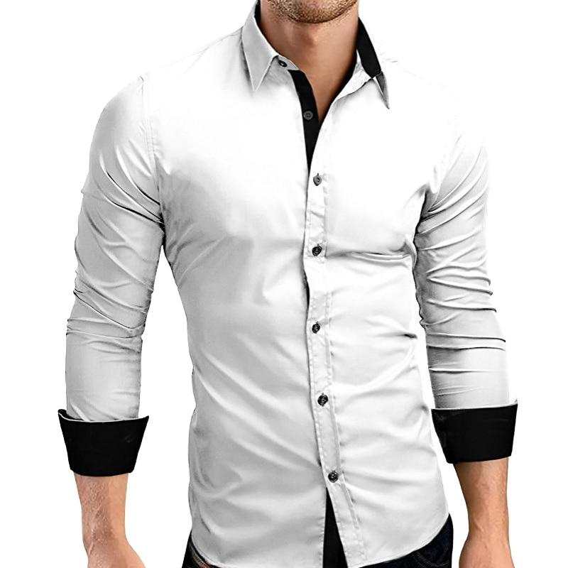 Fashion Men Luxury Casual Stylish Slim Fit Long Sleeve Dress Shirts T-Shirt Tops