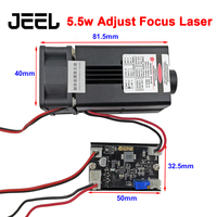 5.5w 450NM Adjust Focus Blue Laser Module Laser Engraving With TTL Control Switch 5500mw Laser Tube Used for Engraving Machine