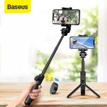 Baseusไร้สายบลูทูธSelfie StickสำหรับIOS Androidโทรศัพท์Monopodมือถือแบบพับเก็บได้รีโมทคอนโทรลมินิขาตั้งกล้อง
