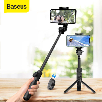 Baseus Wireless Bluetooth Selfie Stick for IOS Android Phone Foldable Handheld Monopod Shutter Remote Extendable Mini Tripod - discount item  30% OFF Camera & Photo