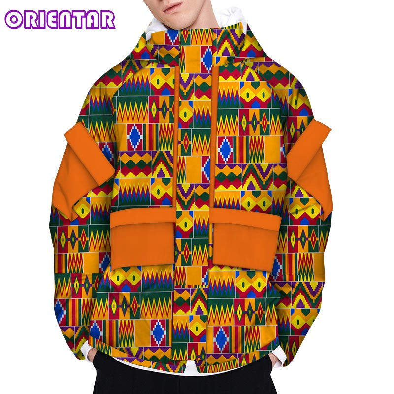Casual African Coat Men African Clothes Long Sleeve Male Men Africa Print Bazin Riche Jacket Coat African Clothing WYN1178