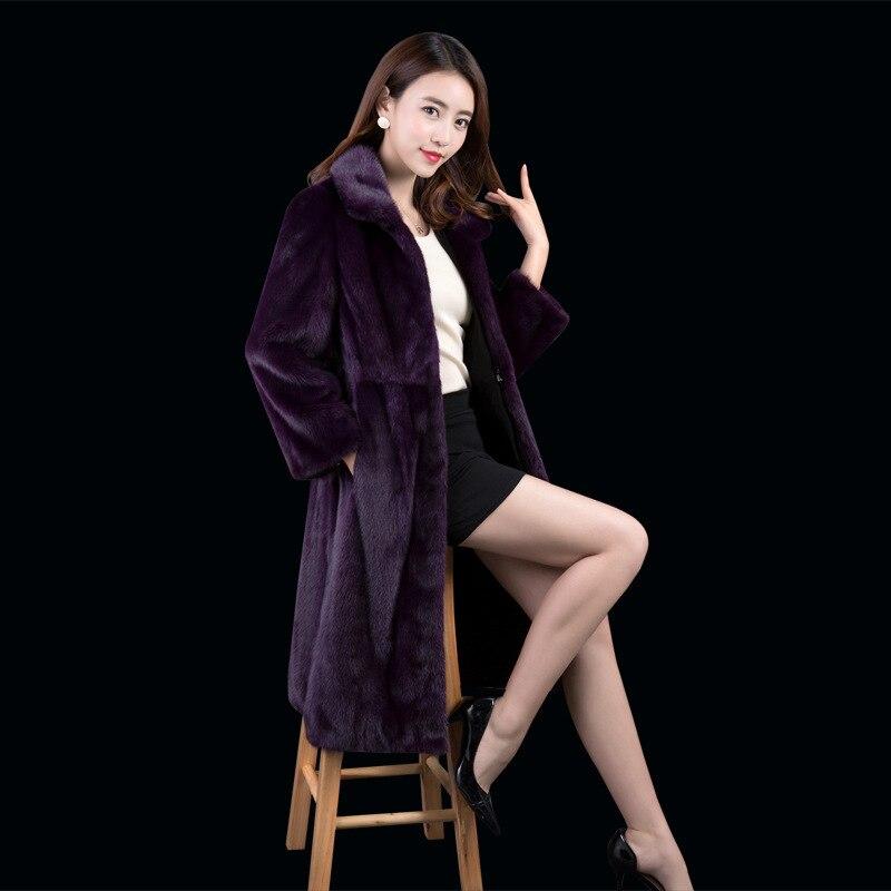 Real Fur Coat Women Warm Winter Coat 100% Mink Fur Jackets And Coats For Women Clothes Fashion Abrigo Mujer F17LT008 YY395