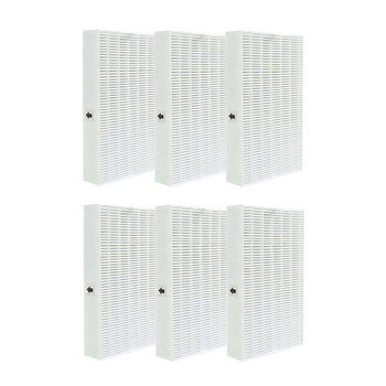 6 Pcs HEPA Filters Replacement for Honeywell Air Purifier Series HPA090 HPA100 HPA200 HPA250 & HPA300 HRF-R6 complete 6 premium hepa r replacement filter pack hrf r3 r2 r1 fits hw air purifier series hpa090 10 200 250 300 3 6 pcs