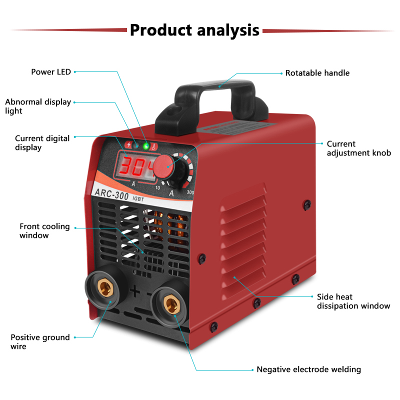 Image 3 - Handskit Welding Machine ARC 300 Portable Electric Welder Semiautomatic Welding Reverse Welder for Welding Electric WorkArc Welders   - AliExpress