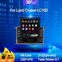 цена на 9.7 inch tesla screen Car Radio for Toyota Land cruiser 100 GX LC 100 Stereo GPS Navigation multimedia player with camera mic
