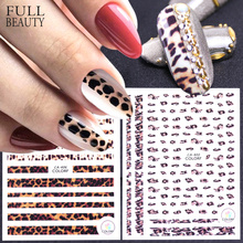 1pcs 3D Nail Stickers Leopard Self Adhesive Sexy Designs Women Slider Decals for Nail Art Decorations Manicure Tips CHCA401 409