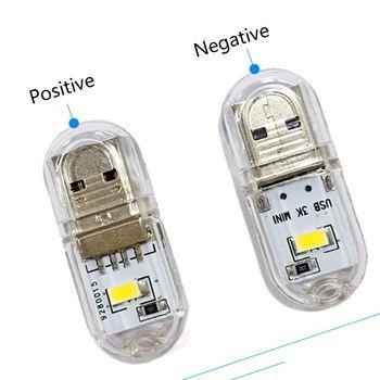 Mini przenośny jasne diody LED nocne światło do czytania lampa USB dla PC laptopy komputery tanie i dobre opinie HNGCHOIGE
