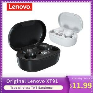 Image 1 - Original Lenovo XT91 TWS True Wireless Earphone Bluetooth 5.0 Earbuds Mic Noise Reduction AI Control Gaming Headset Stereo Bass