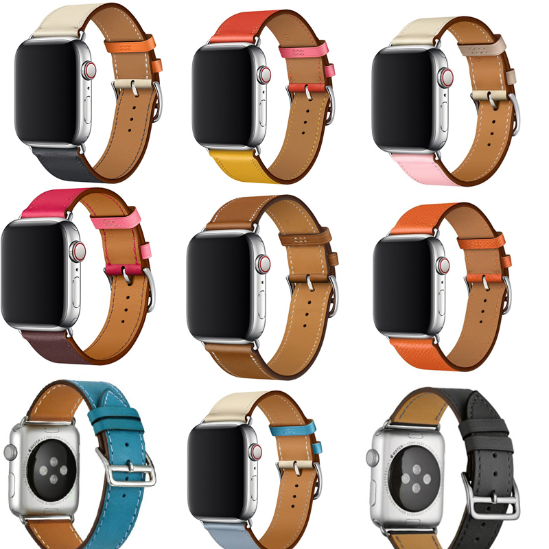 For Apple Watch Band Leather 42mm Series 5/4/3/2 /1 Strap For IWatch 38mm 40mm 44mm