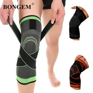 Knee Pads Compression Elastic Braces For Arthritis Kneepad Support Patella Running Fitness Gear Protector With Strap