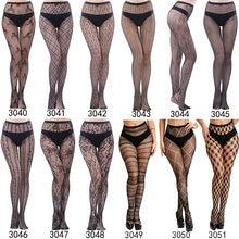 Женские черные сексуальные колготки разных стилей размера плюс