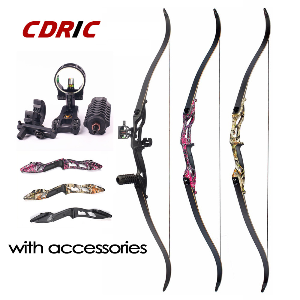 3 Color 30-50lbs F179 Recurve Bow 56