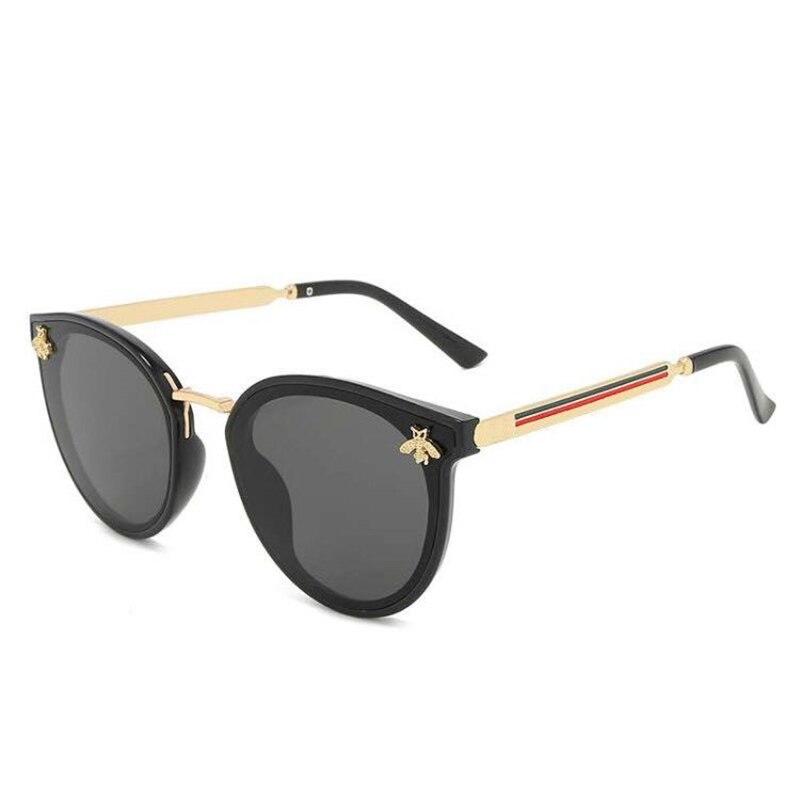 ASUOP 2020 New Fashion Lady Sunglasses UV400 Oval Metal Frame Bee Sunglasses Retro Casual Luxury Brand Men's Sports Glasses