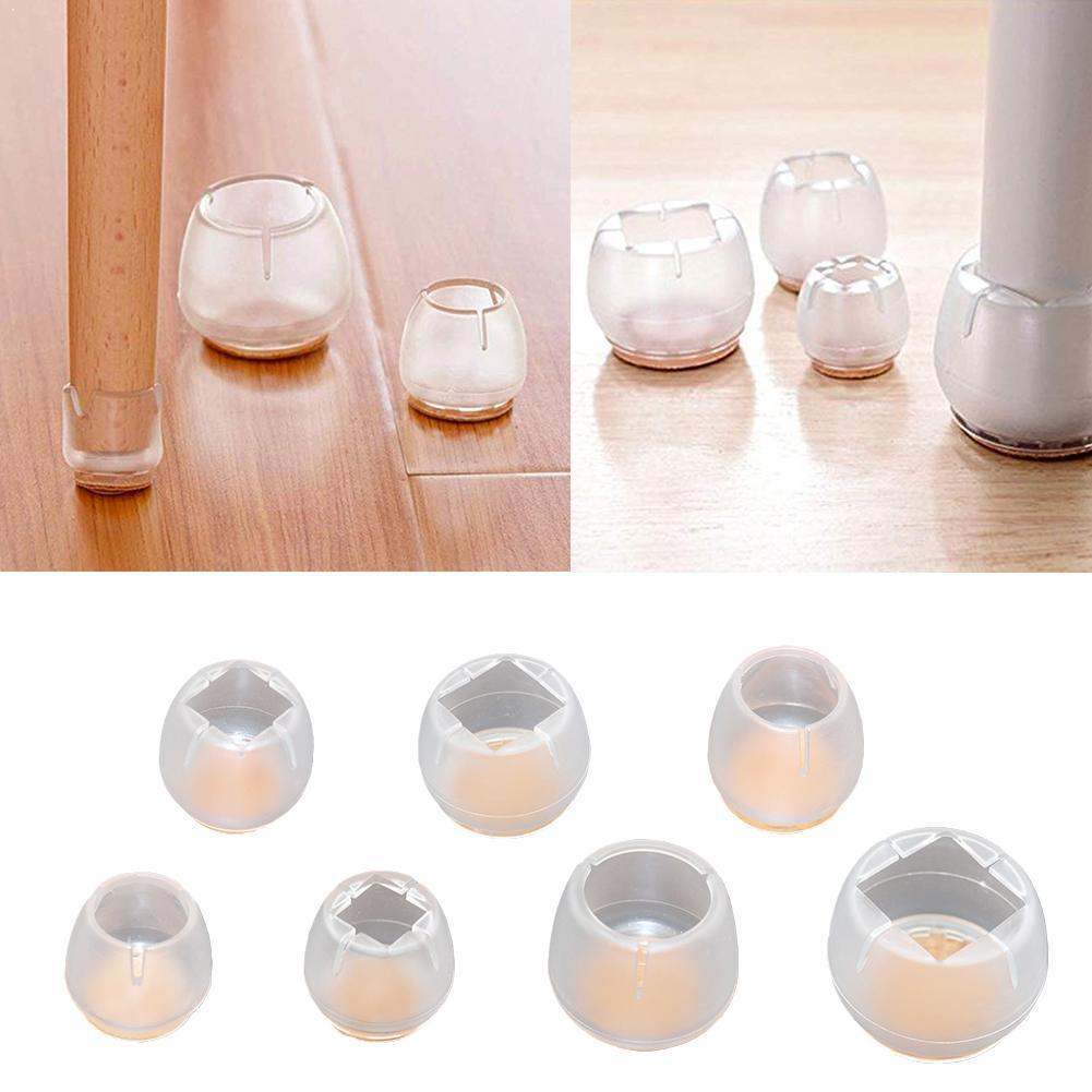 1pcs Non-slip Furniture Table Covers Socks Silicone Pads Floor Round Protectors Tool Bottom Leg Feet Chair Caps V1D1