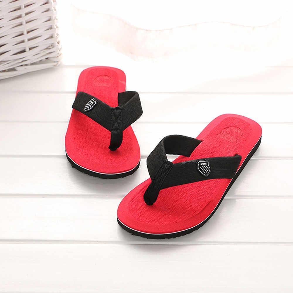 Mannen Slippers Flip-Flops Slippers Strand Sandalen Indoor & Outdoor Casual Huis Schoenen Mannen Zapatos De Hombre Мужские вьетнамки # L30
