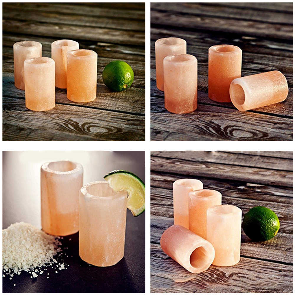 Natural Salt Shot Glasses Cocktail Glasses Salty Wine Glass Cup for Wedding Home Party Accessries