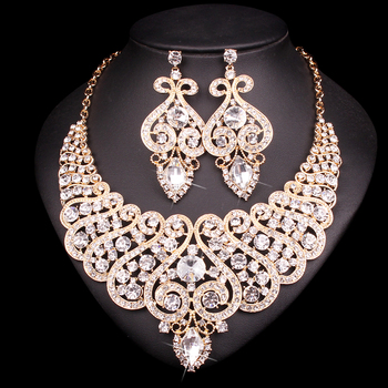 Luxury  Crystal Statement Jewelry Set 3