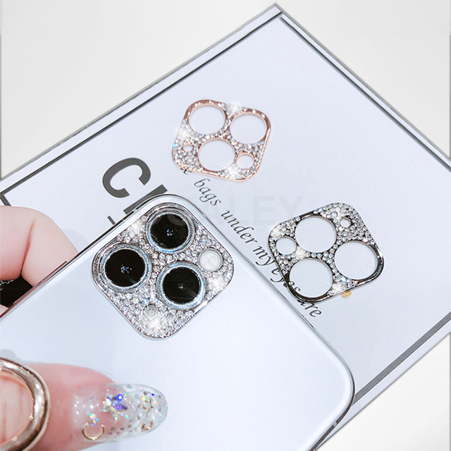 3D Diamond Camera Case For iPhone 12 Pro Max 12 Mini Case Glitter Crystal Camera Lens Protector Cover For iPhone 11 12 Pro Max 2 2