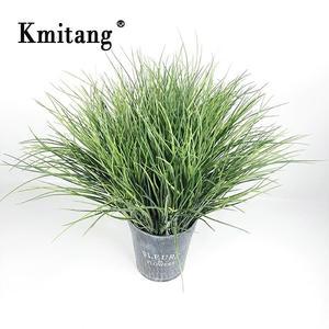 52 см 7 вилок тропическая искусственная трава искусственные зеленые горшечные растения луковая трава пластиковые листья лужайка инженерия ...