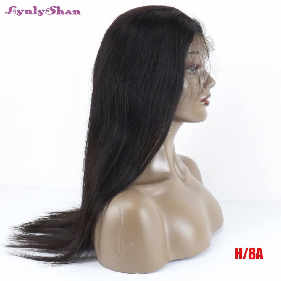 Lynlyshan Human Hair Wigs Malaysia Remy Hair 13*4 Lace Front Human Hair Wigs Natural Color 8-32Inch  Free Shipping