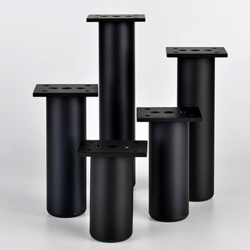 Home Furniture Accessories Legs Adjustable Kitchen Cabinet Foot Furniture Legs Magnesium Alloy Cabinet Legs Black Furniture Tool