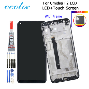 ocolor For Umidigi F2 LCD Display And Touch Screen Digitizer Assembly Replacement + Frame+Tools +Glue+Case 6.53'' For Umidigi F2