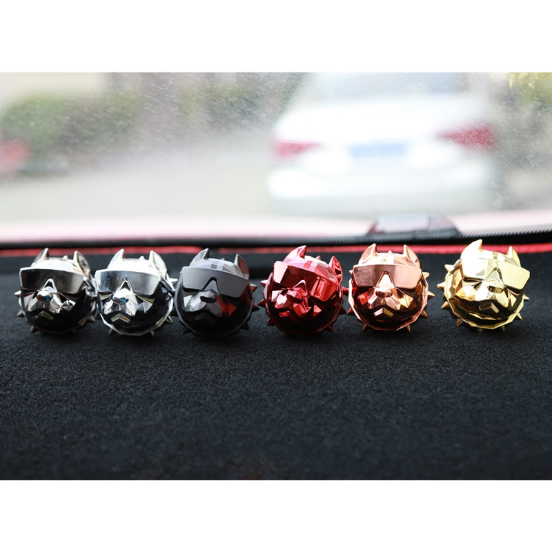 Bulldog Car Air Freshener Perfume Clip Fragrance Diffuser Auto Vents Scent Parfum Bright silver Bulldog Diffuser Car Decor