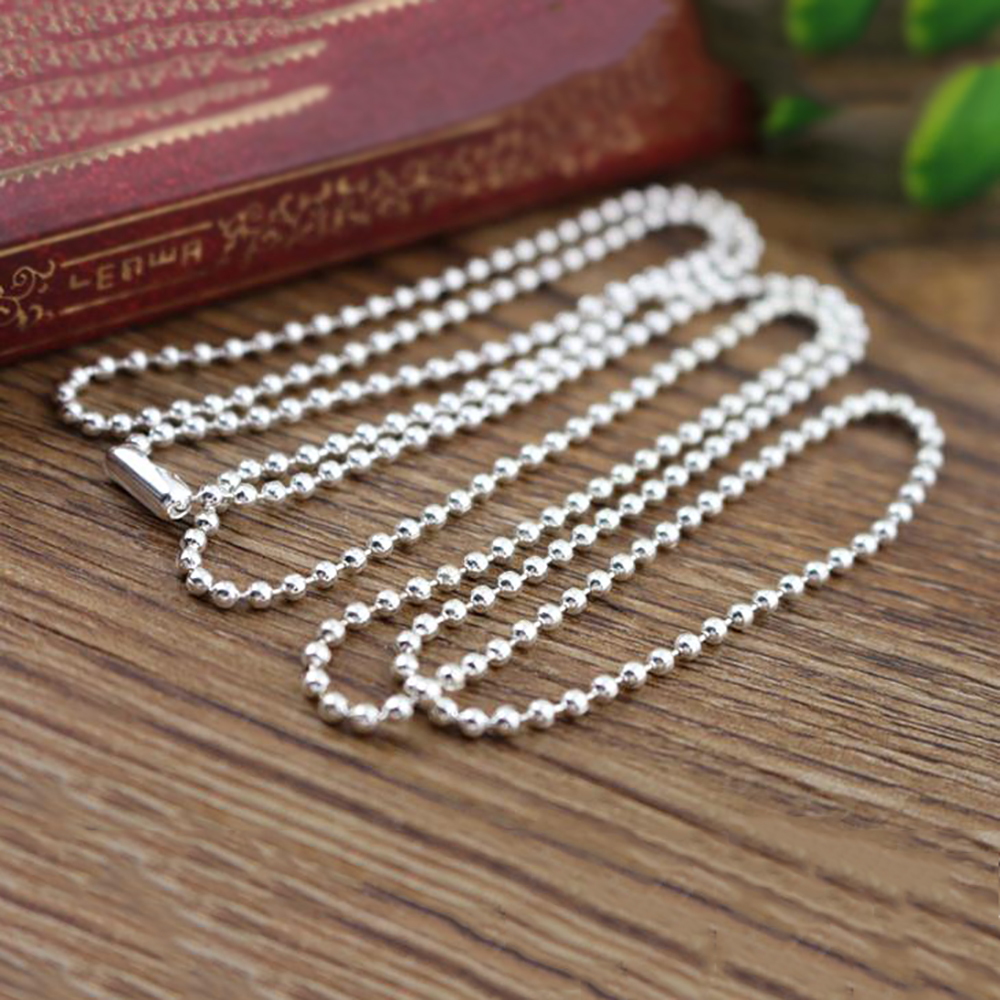 Lead Free Jewelry Finding Beaded Chain Connectors Ball Link Chains Gold//Silver