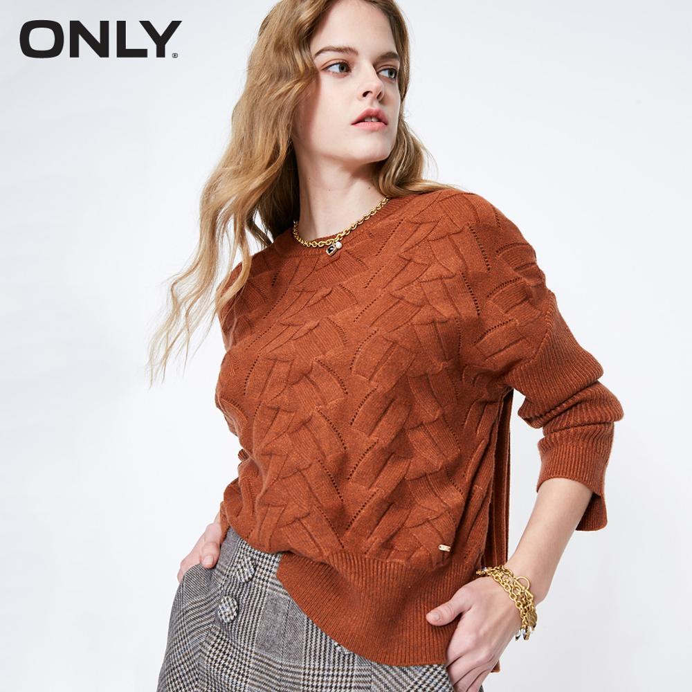ONLY Women's Loose Fit Irregular Round Neckline Pullover Knit | 119113516