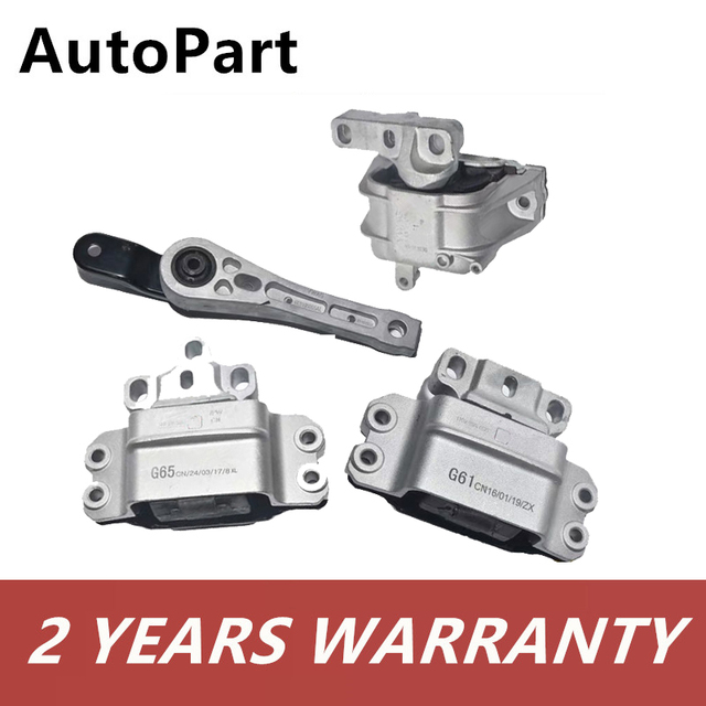 Engine  Rear&Front Right Left Transmission Motor Mount Mounting For Audi A3 S3 For VW Golf Jetta Touran 1K0199555 1K0199262 1
