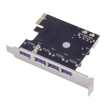4Port PCI-E to USB 3.0 HUB PCI Express Expansion Card Adapte