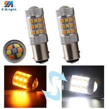 цена на 2pcs 2835 42 SMD S25 1157 BAY15D Leds Bulb Car LED Lamp 12VDC Bulbs Stop Brake Lights Auto Backup Tail Lamp 2 Colors New Arrival