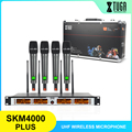 XTUGA SKM4000 PLUS профессиональная 4*100 каналов UHF Беспроводная микрофонная система металлическая встроенная, выбираемая частота, до 260 футов