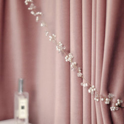 Luksusowa nordycka aksamitna zasłona różowa/zielona zasłony zaciemniające do salonu sypialnia pogrubione aksamitne francuskie okno zasłony