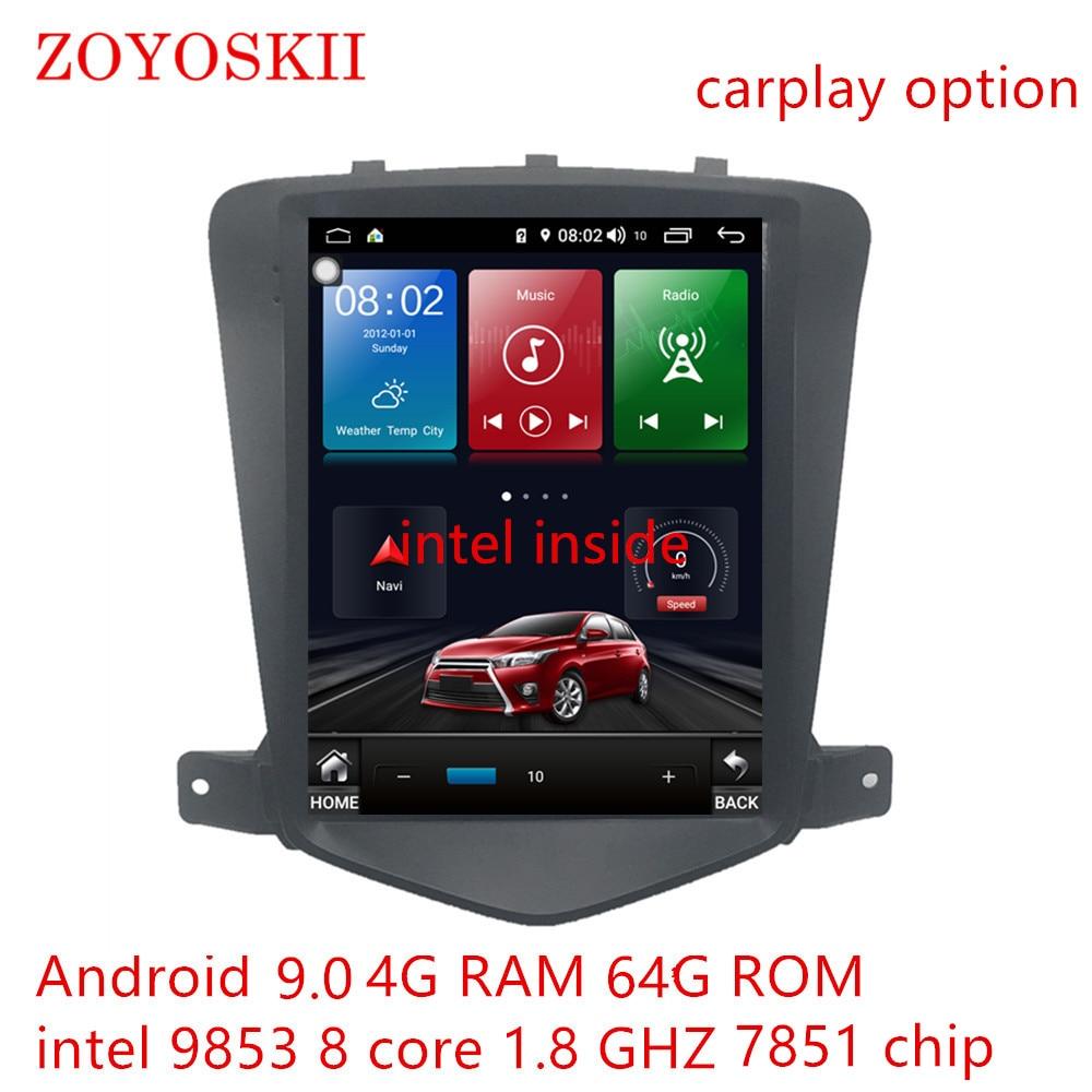 ZOYOSKII Android 9.0 10.4 pouces IPS vetique HD écran voiture gps multimédia lecteur de navigation radio pour Chevrolet Cruze 2009-2015