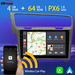 """10.1"""" Android 9 1 Din Car Radio GPS For VW Volkswagen Golf 7 MK7 Multimedia PX6 4GB+64GB Android Auto Wireless CarPlay 5*USB DAB(China)"""