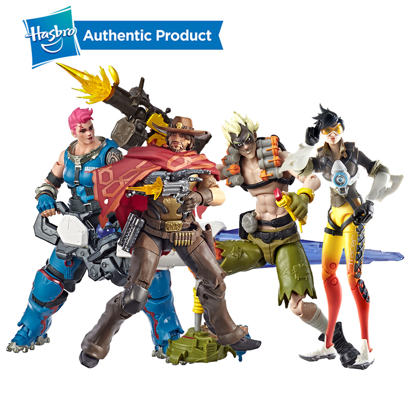 Hasbro Overwatch Ultimates Series McCree 6-Inch-Scale Collectible Video Gam Character Designed for fans and collectors. image