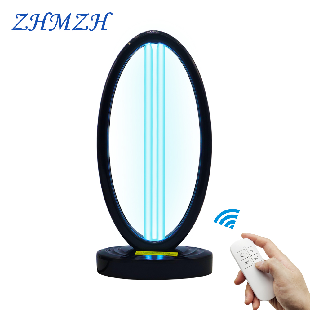 AC220V Remote Control UVC Sterilizer 36W High Ozone Ultraviolet Germicidal Lamp 110V UV Disinfection Light for Killing Virus