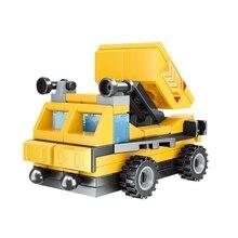 Транспортные средства, трансформация инженерных строительных блоков, инфрастуктура, сумасшедшие строительные блоки, детские головоломки, DIY игрушки 802A