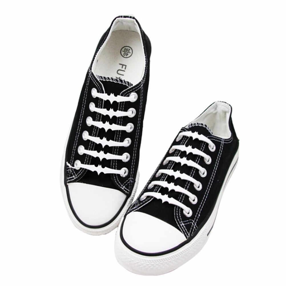 ¡Venta al por mayor! 16 Uds. 6 Cm sin cordones de murciélago para niños y adultos Cordones elásticos de silicona para zapatos deslizantes sin cordones zapatillas con cordones